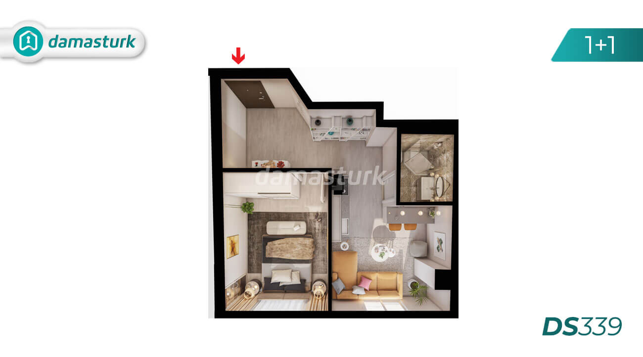 Apartments for sale in Turkey - Istanbul - the complex DS339 || damasturk Real Estate Company 02