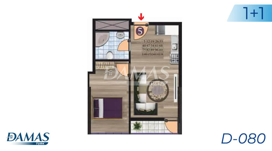 Damas Project D-080 in Istanbul - Floor Plan picture 01