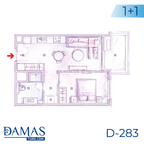 Damas Project D-283 in Istanbul - Floor plan picture 01