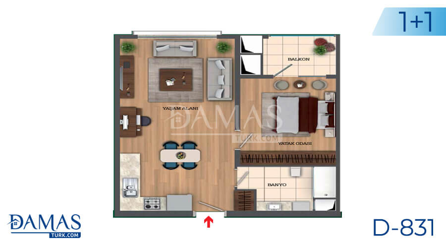 Damas Project D-831 in Istanbul - Floor Plan picture 01