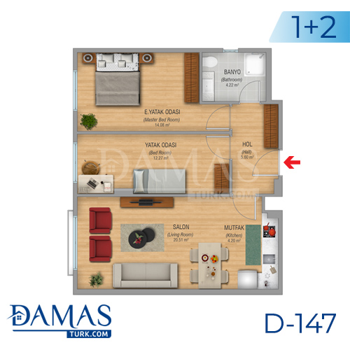 Damas Project D-147 in Istanbul - Floor plan picture 01