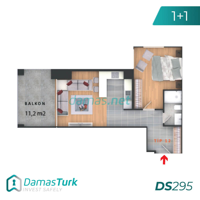 Complex apartments and offices of an investment wonderful sea views of the Sea of Marmara in Istanbul, the European Beylikdüzü area DS295 || damas.net 02