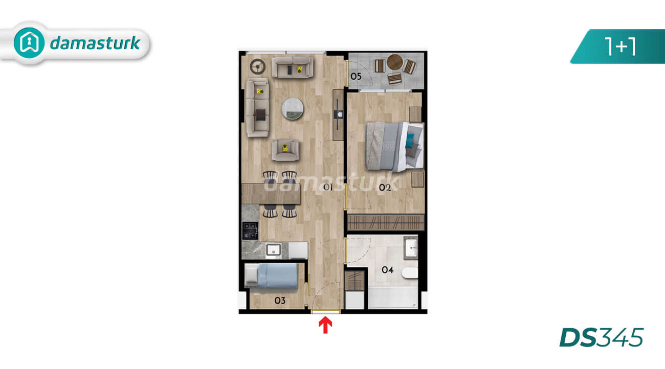 Apartments for sale in Turkey - Istanbul - the complex DS345 || damasturk Real Estate Company 01