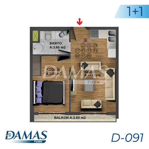 Damas Project D-091 in Istanbul - Floor Plan picture 01