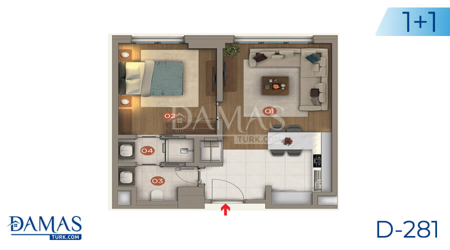 Damas Project D-281 in Istanbul - Floor plan picture 01
