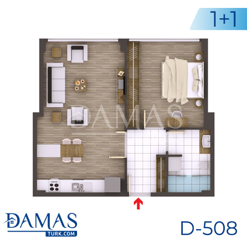 Damas Project D-508 in kocaeli - Floor plan picture 01
