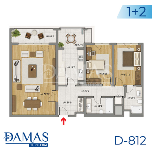 Damas Project D-806 in Istanbul - Floor plan picture 01