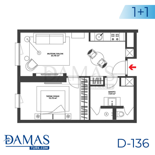 Damas Project D-136 in Istanbul - Floor plan picture 01