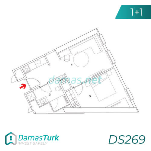 Damas Project DS269 in Istanbul - Floor Plan picture  01