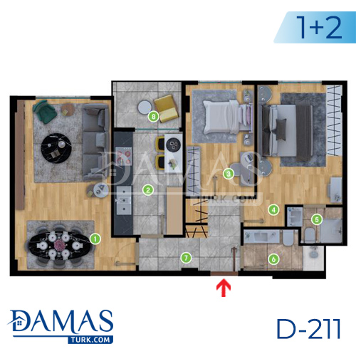 Damas Project D-2181 in Istanbul - Floor plan picture  01