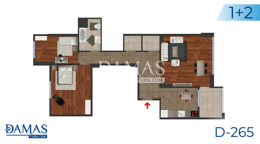 Damas Project D-265 in Istanbul - Floor plan picture 01
