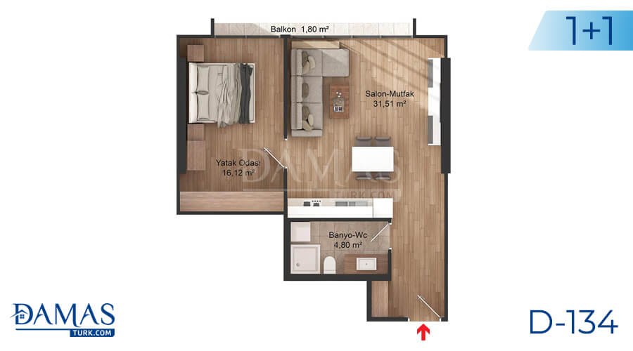 Damas Project D-134 in Istanbul - Floor plan picture 01