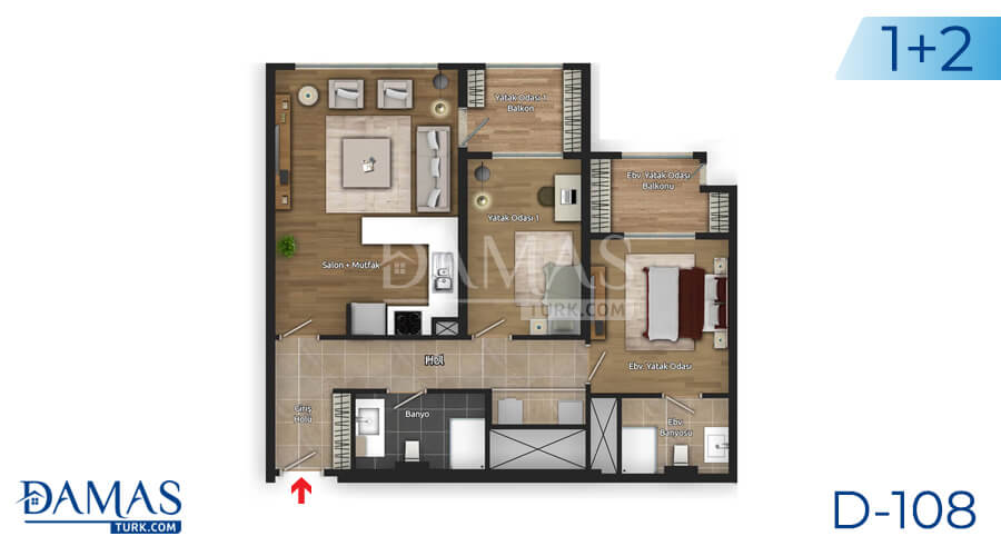 Damas Project D-108 in Istanbul - Floor plan picture 01