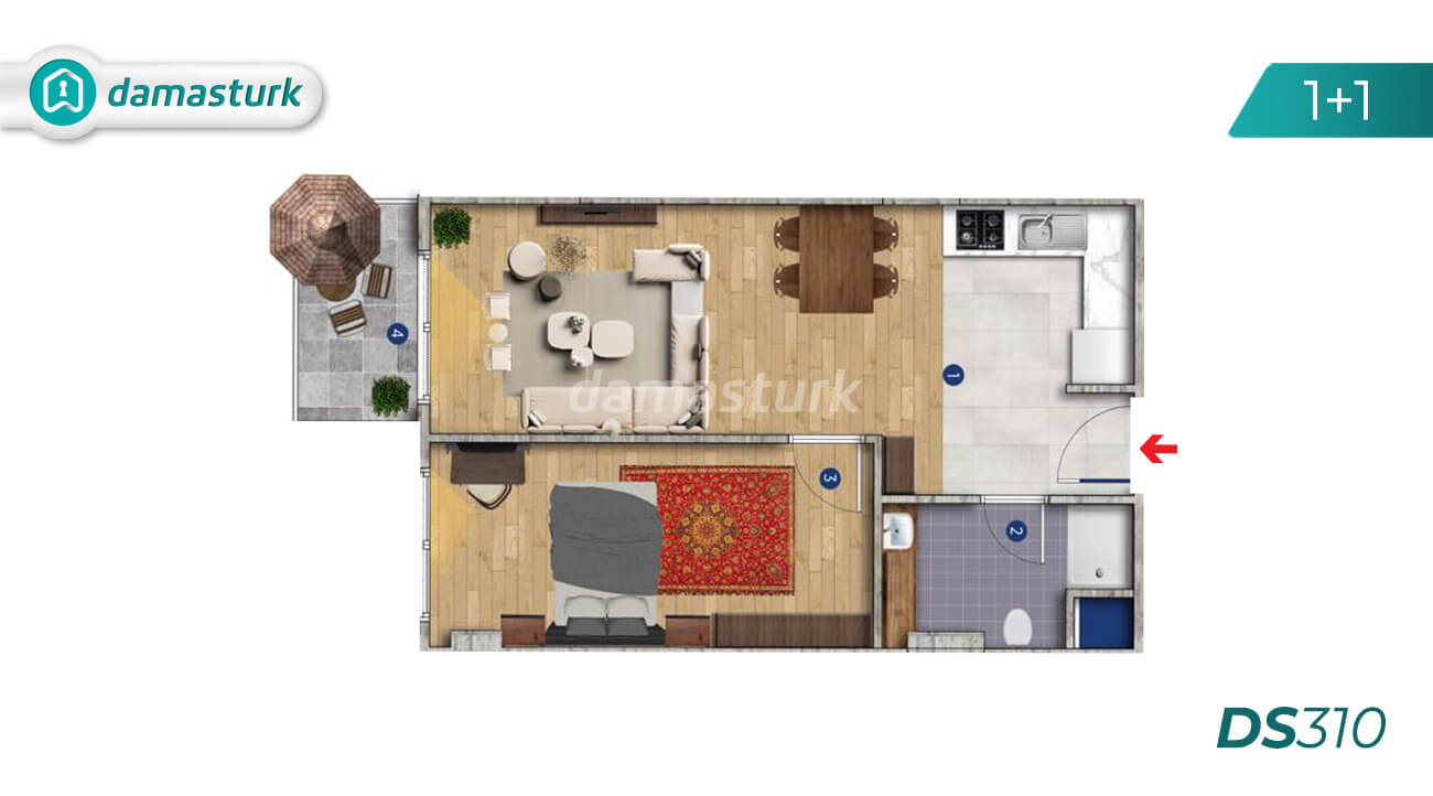 Istanbul Property - Turkey Real Estate - DS310 || damasturk 01