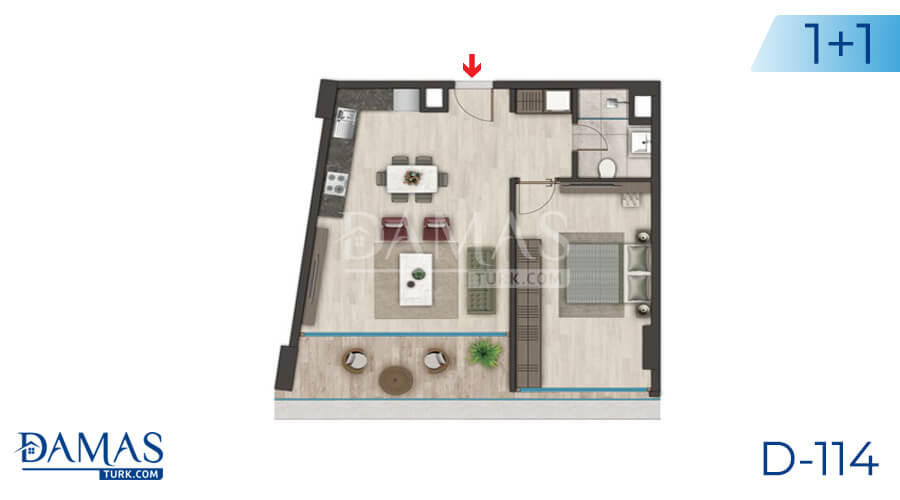 Damas Project D-114 in Istanbul - Floor plan picture 01