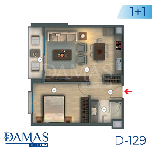 Damas Project D-129 in Istanbul - Floor plan picture 01
