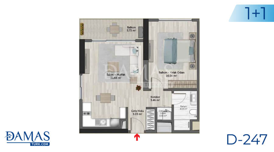 Damas Project D-247 in Istanbul - Floor plan picture 01