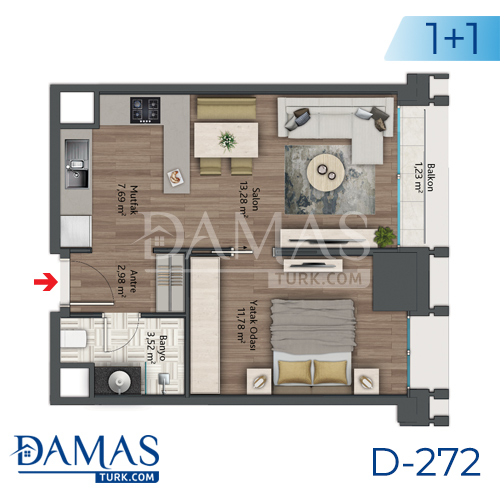 Damas Project D-272 in Istanbul - Floor plan picture 01