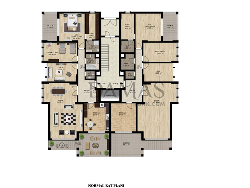 Damas 202 Project in bursa - Floor plan 01
