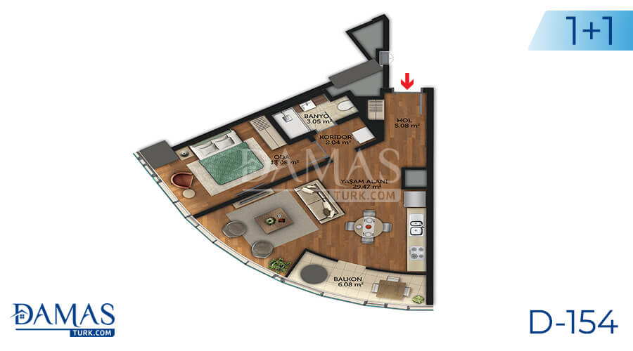 Damas Project D-154 in Istanbul - Floor plan picture 01