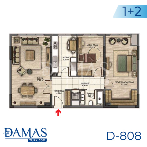 Damas Project D-808 in Istanbul - Floor plan picture 01