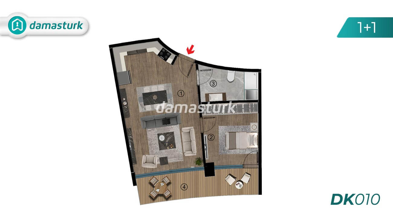 Apartments for sale in Turkey - Kocaeli - complex DK010  || damasturk Real Estate Company 01