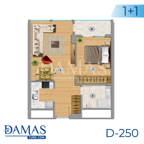 Damas Project D-250 in Istanbul - Floor plan picture 01