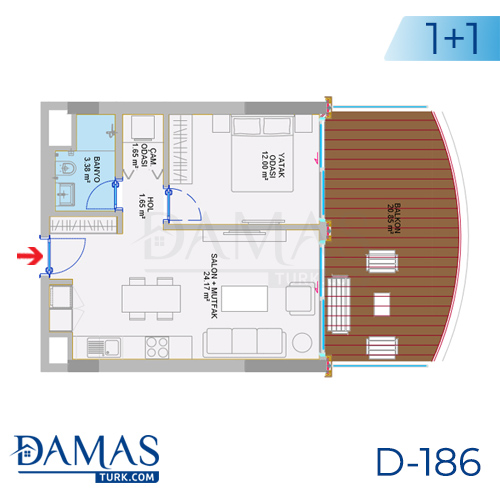 Damas Project D-186 in Istanbul - Floor plan picture  01