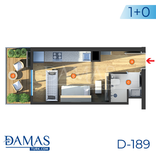 Damas Project D-189 in Istanbul - Floor plan picture  01