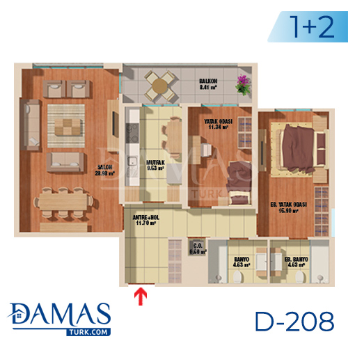 Damas Project D-208 in Istanbul - Floor plan picture  01