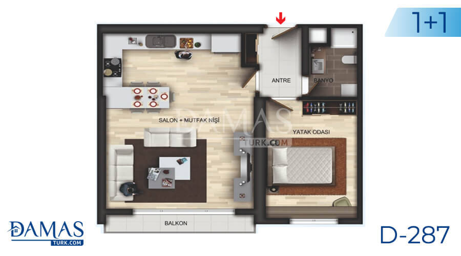 Damas Project D-287 in Istanbul - Floor plan picture 01