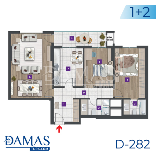 Damas Project D-282 in Istanbul - Floor plan picture 01