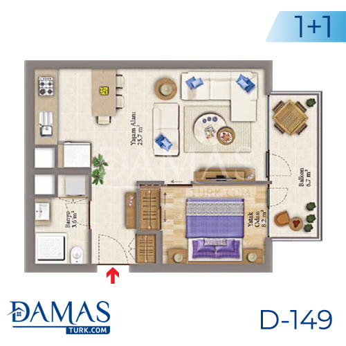 Damas Project D-149 in Istanbul - Floor plan picture 01