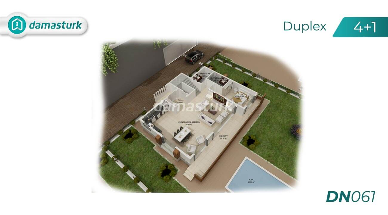 Apartments for sale in Antalya - Turkey - Complex DN061  || damasturk Real Estate Company 01