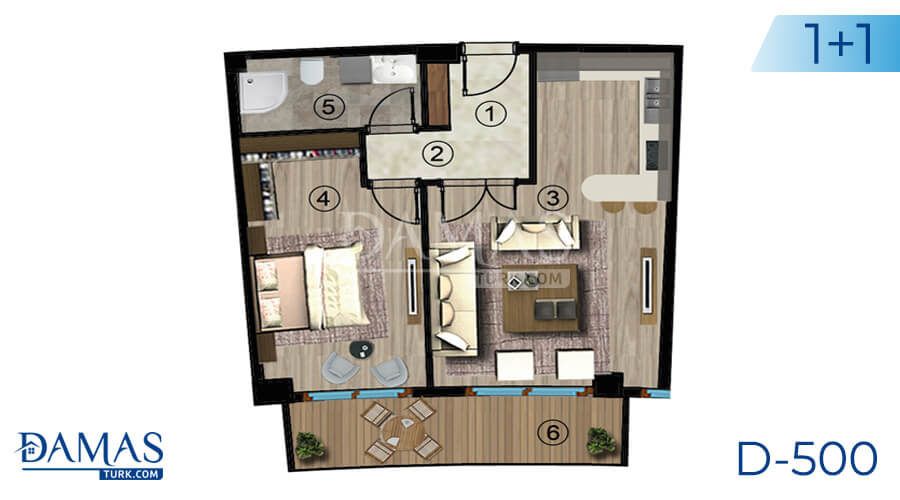 Damas Project D-500 in kocaeli - Floor plan picture  01