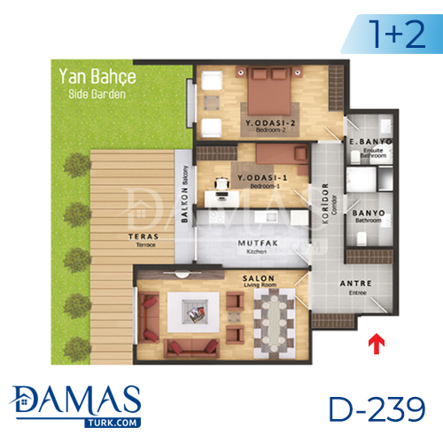 Damas Project D-239 in Istanbul - Floor plan picture  01