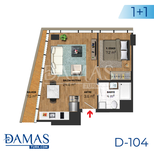 Damas Project D-104 in Istanbul - Floor plan picture 01