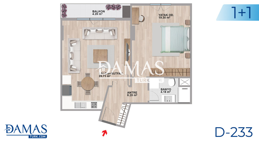 Damas Project D-233 in Istanbul - Floor plan picture  01