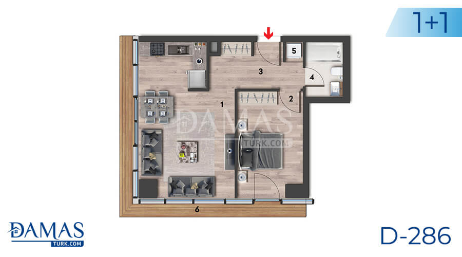 Damas Project D-286 in Istanbul - Floor plan picture 01