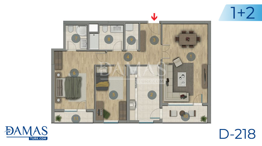 Damas Project D-218 in Istanbul - Floor plan picture  01