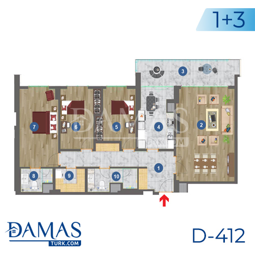 Damas Project D-412 in Istanbul - Floor plan picture 01