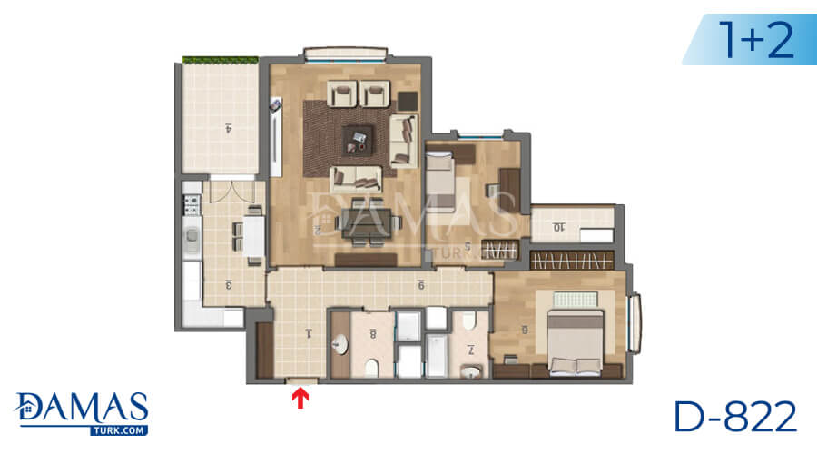 Damas Project D-822 in Istanbul - Floor plan picture 01