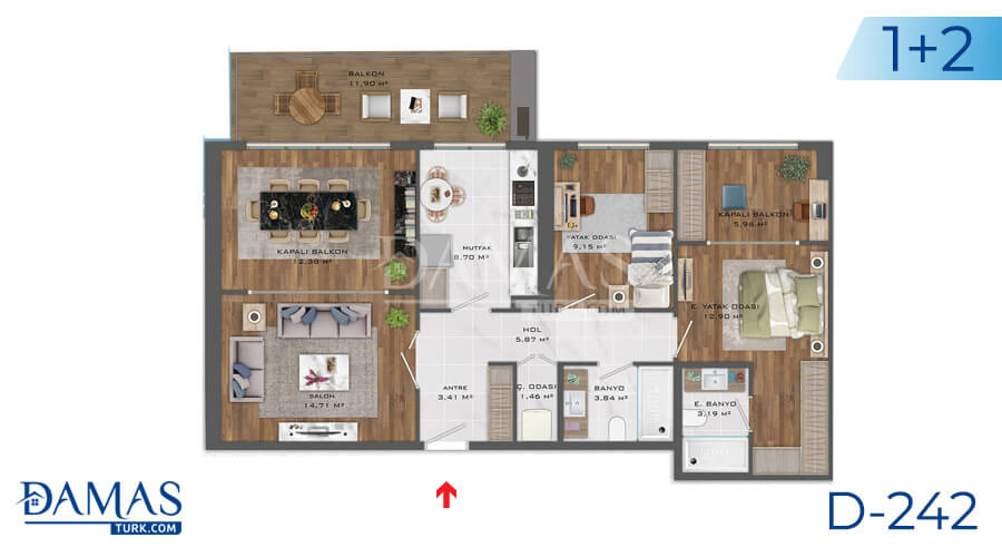 Damas Project D-242 in Istanbul - Floor plan picture  01