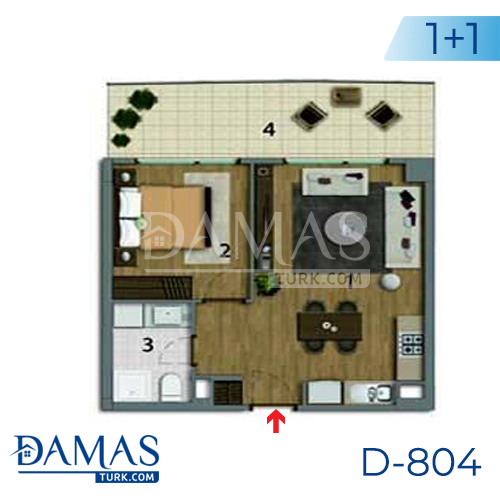 Damas Project D-804 in Istanbul - Floor plan picture 01