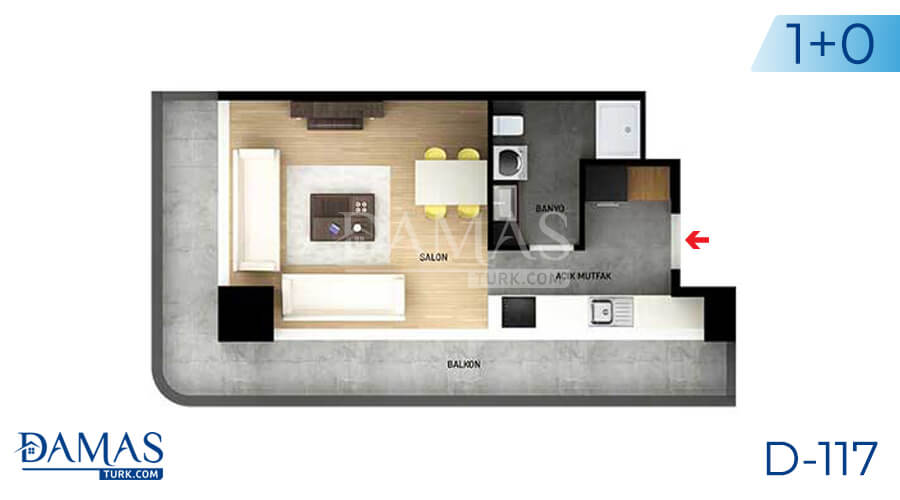 Damas Project D-117 in Istanbul - Floor plan picture 01