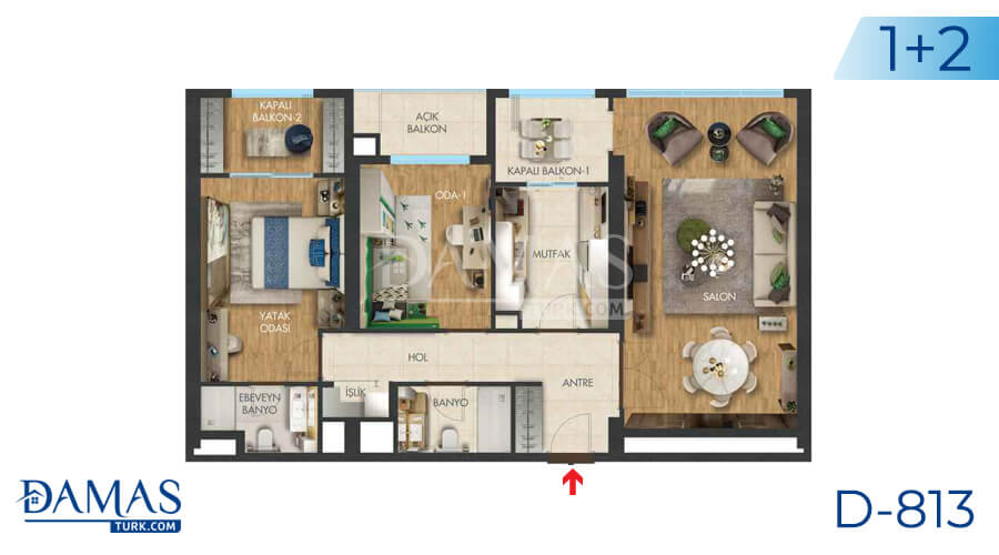 Damas Project D-813 in Istanbul - Floor plan picture 01
