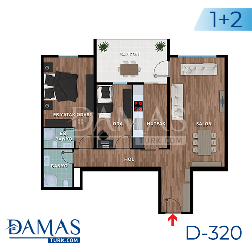 Damas Project D-319 in Bursa - Floor plan picture 01