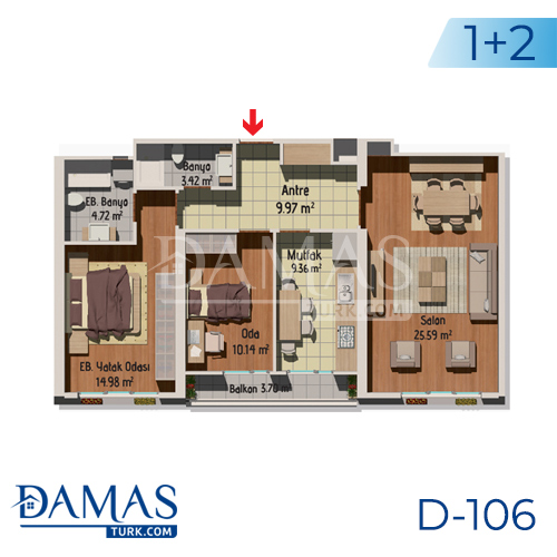 Damas Project D-106 in Istanbul - Floor plan picture 01