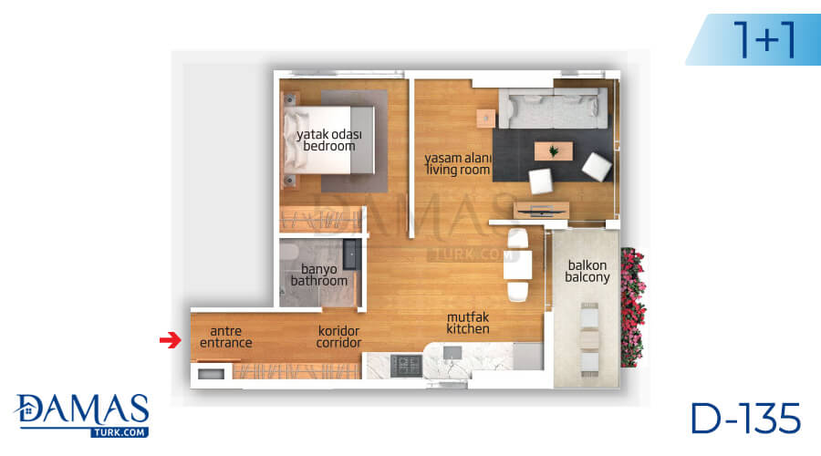 Damas Project D-135 in Istanbul - Floor plan picture 01