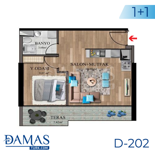 Damas Project D-202 in Istanbul - Floor plan picture  01
